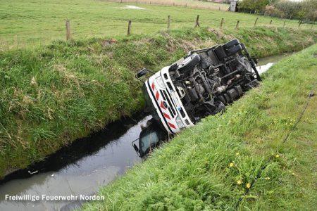 Hubfahrzeug im Graben, 29.04.2016