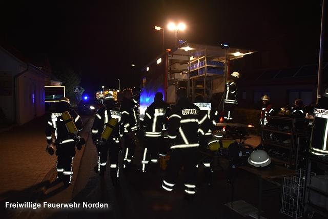 Brennender Unrat gefährdet Wohnhaus, 06.10.2016