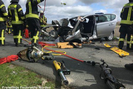 Schwerer Verkehrsunfall, 06.04.2017