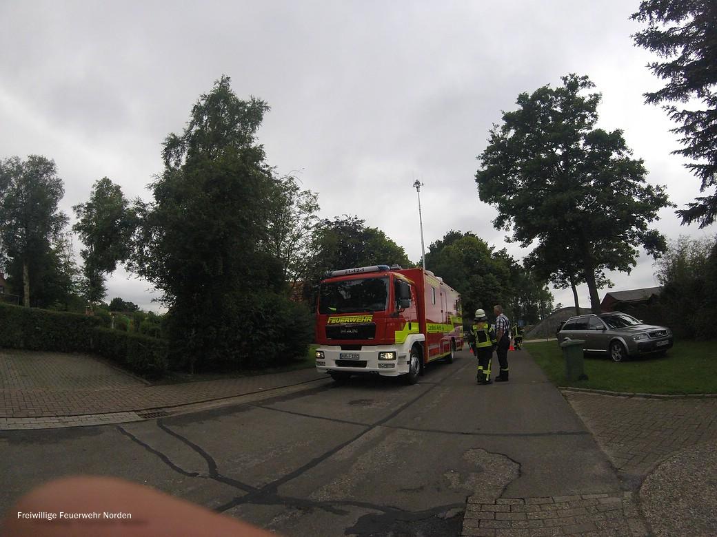 Küchenbrand in Hage, 05.07.2017