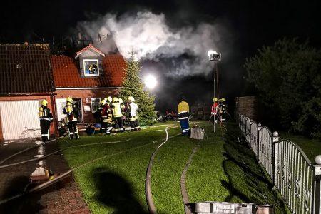 Dachstuhlbrand Wirdum, 13.05.2018