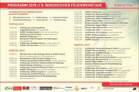 Programm Norddeicher Feuerwehrtage 2018