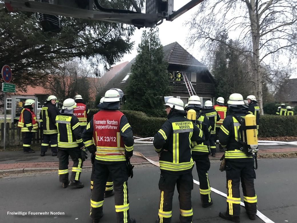 Gebäudebrand in Hage, 30.11.2018
