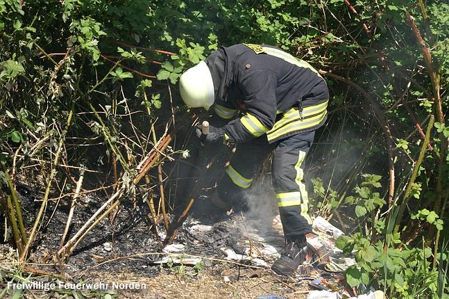 Böschungsbrand, 30.04.2011