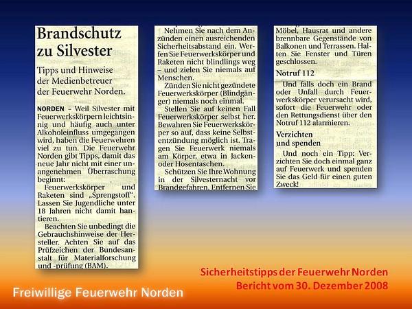 Presseberichte 2008