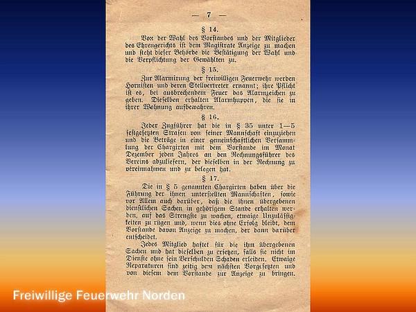 1886: Statuten