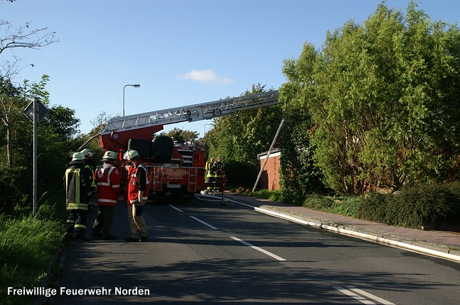 Dachstuhlbrand, 15.08.2011