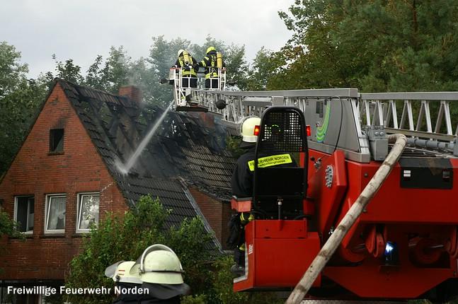 Dachstuhlbrand, 26.08.2011