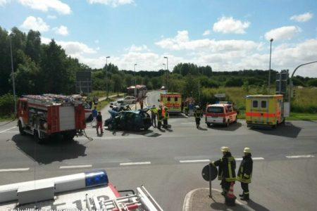 Schwerer Verkehrsunfall, 08.08.2013
