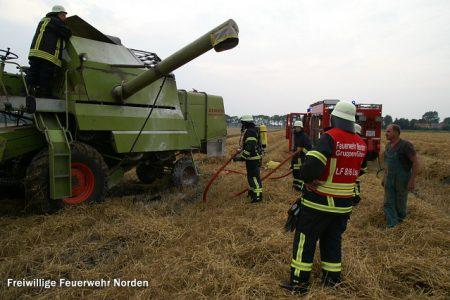 Mähdrescherbrand, 22.08.2013