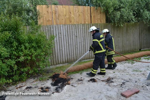 Kleinbrand auf Grundschulgelände, 09.10.2014
