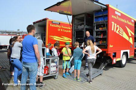 Jugendfeuerwehr Pattensen zu Besuch, 01.08.2015