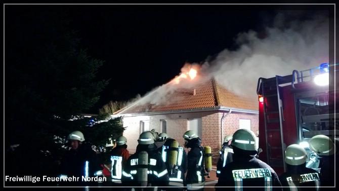Gebäudebrand Hage, 23.12.2012