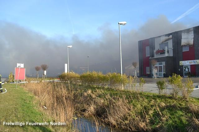 Großbrand in Krummhörn, 31.12.2013