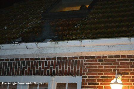 Dachrinnenbrand, 20.02.2012