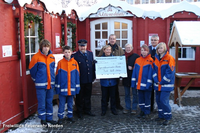 Spendenübergabe ZoB, 21.12.2010