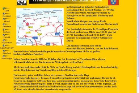 Internetseite im Jahr 2001