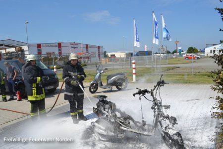 Brennender Motorroller, 17.07.2014