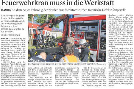 Ostfriesen Zeitung, 04.07.2015