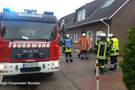 Zimmerbrand in Westeraccumersiel, 28.07.2015