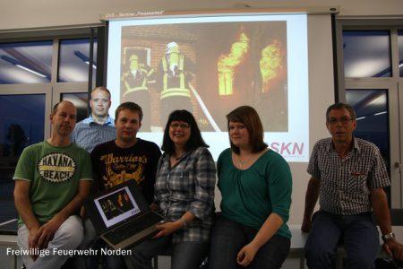 Fortbildung der Norder Feuerwehr-Pressesprecher,05.06.2014