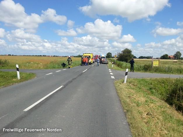 Verkehrsunfall Neßmersiel, 30.06.2014