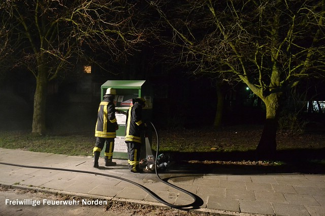 Gemeldeter Containerbrand, 29.03.2014
