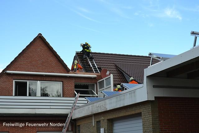 Gebäudebrand Dornum, 18.09.2013