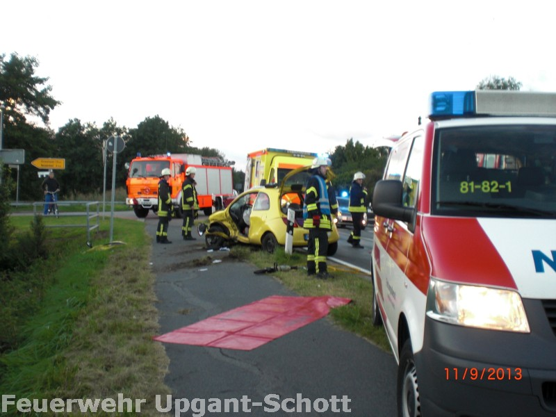 Verkehrsunfall in Osteel, 11.09.2013