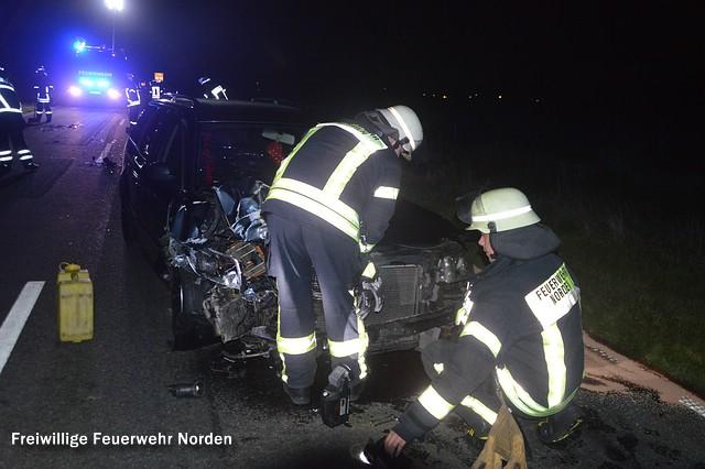 Hilfeleistung nach Verkehrsunfall, 25.09.2015